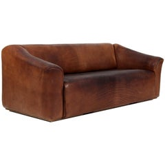 Vintage De Sede Three-Seat Sofa, DS47, Patinated Leather