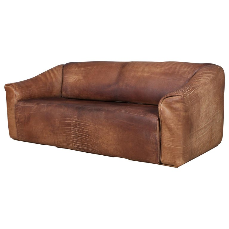 Vintage De Sede Three-Seat Sofa, DS47, Patinated Leather For Sale