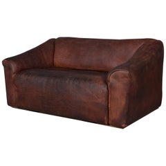 Vintage De Sede Two-Seat Sofa, DS47, Patinated Leather