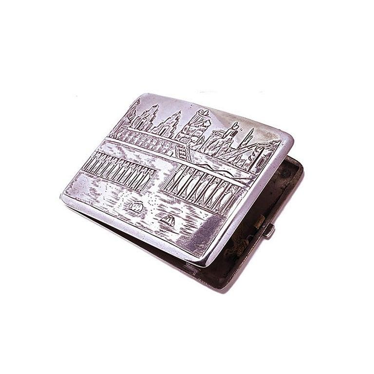 Art Deco Vintage Deco Design Cigarette Case For Sale