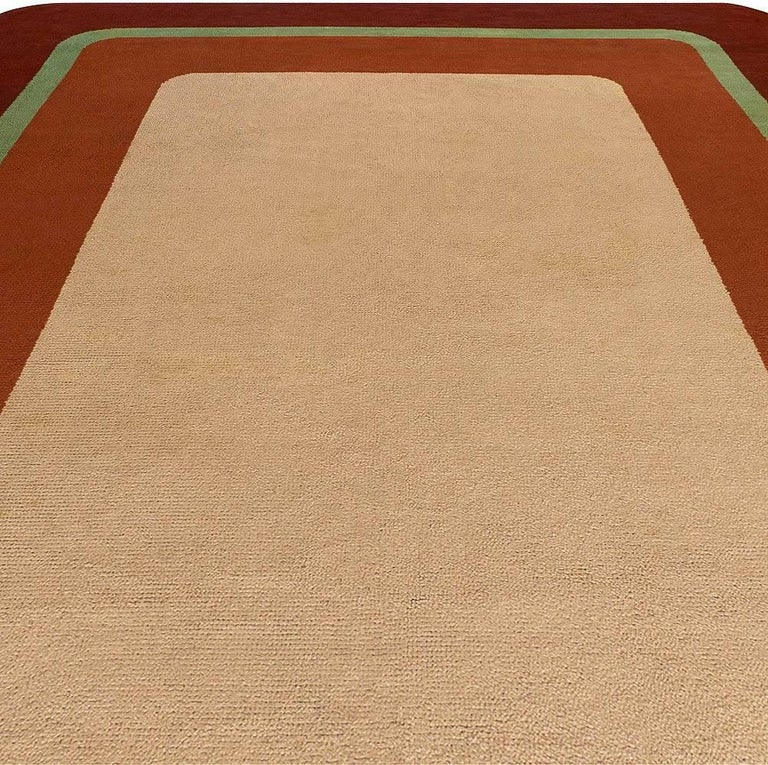 French Vintage Deco Rug For Sale