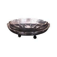 Vintage Decorative Bon Bon Dish, English, Silver, Serving Tray, Bowl, Hallmark