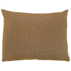 Vintage Decorative Brown Fabric Pillow, Double-Sided