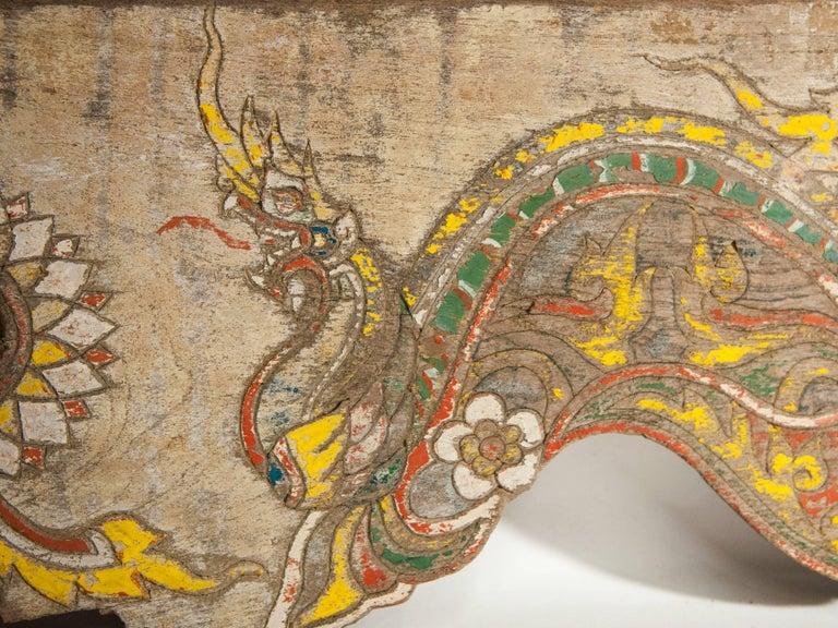 Vintage Decorative Cart Panel, Naga Motif, Mid-20th Century, North Thailand For Sale 4