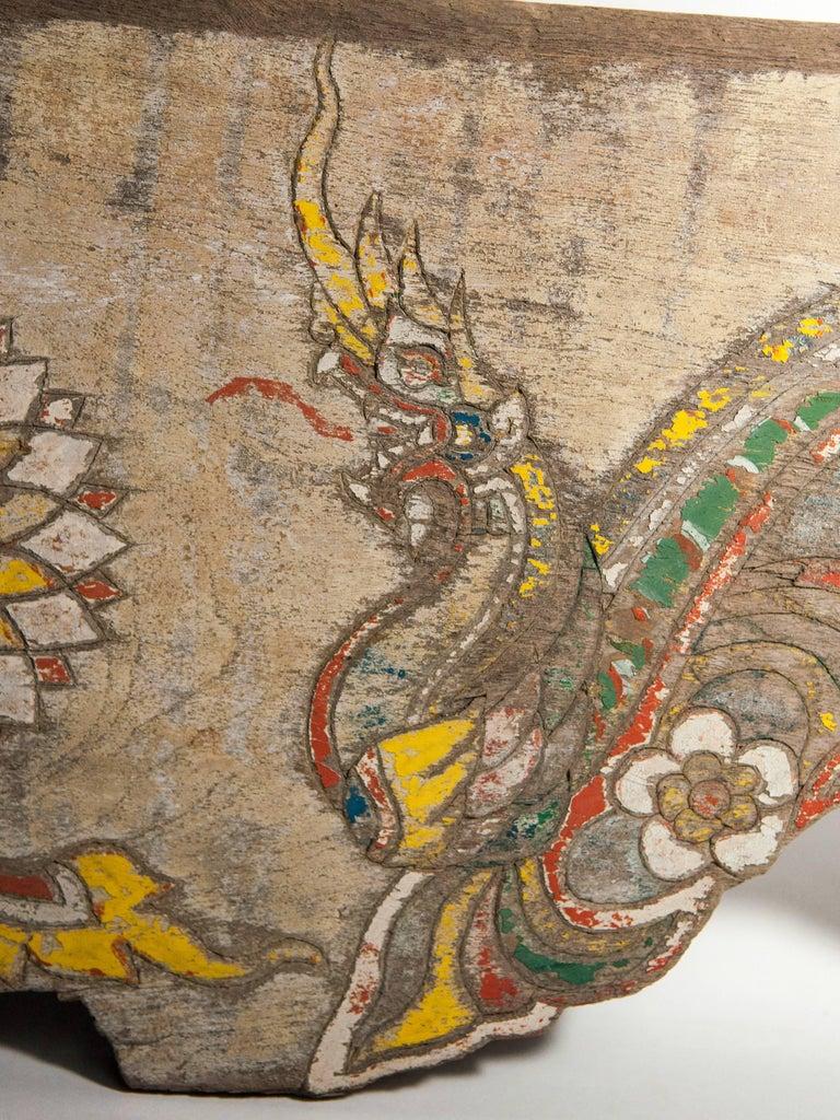 Vintage Decorative Cart Panel, Naga Motif, Mid-20th Century, North Thailand For Sale 5