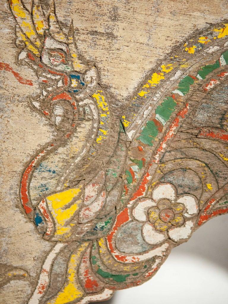 Vintage Decorative Cart Panel, Naga Motif, Mid-20th Century, North Thailand For Sale 6
