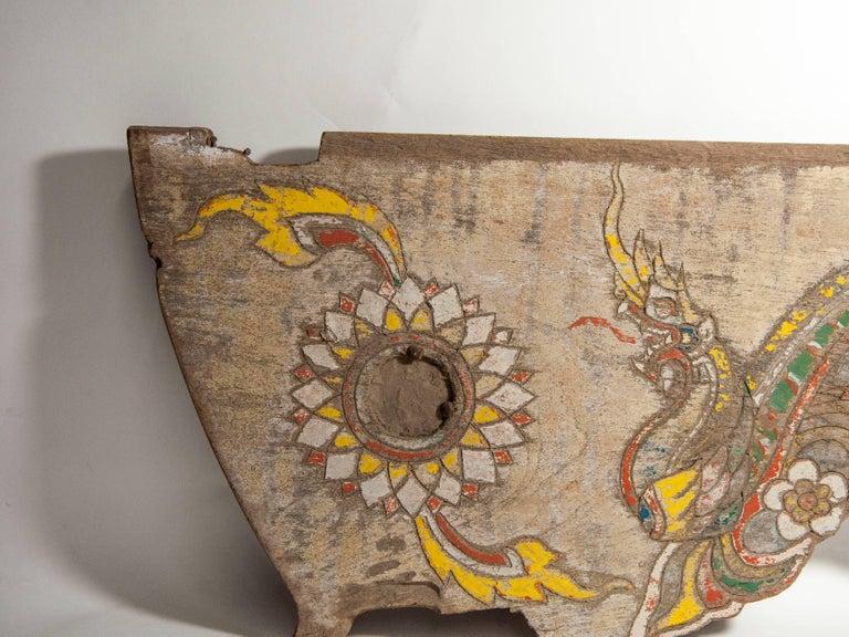Vintage Decorative Cart Panel, Naga Motif, Mid-20th Century, North Thailand For Sale 8