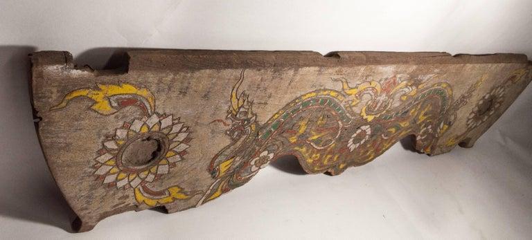 Vintage Decorative Cart Panel, Naga Motif, Mid-20th Century, North Thailand For Sale 9