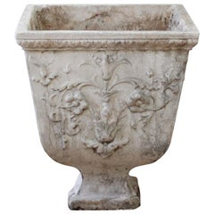 Vintage Decorative Cast Stone Garden Urn Planter