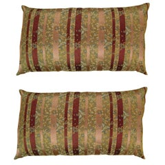 Vintage Decorative Chinoiserie Pillow with Stripes