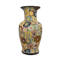 Vintage Decorative Flower Vase, Oriental, Ceramic, Decorative, Urn, Stick, Stand