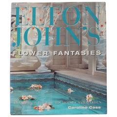 Vintage Decorative Hardcover Book Elton John's Flower Fantasies