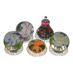 Vintage Decorative Italian Aquarium Spheres Flowers, 1970s