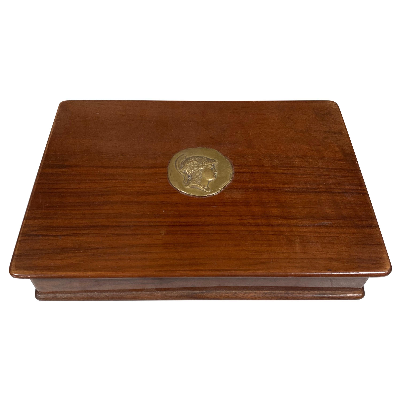Vintage Decorative Italian Wood Box, 1970s