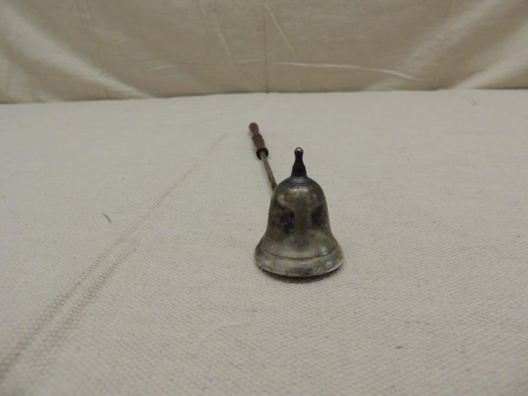 English Vintage Decorative Metal and Wood Snuffer For Sale