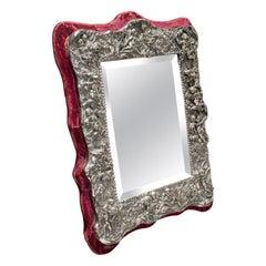 Vintage Decorative Mirror, English, Sterling Silver, 20th Century, circa 1950