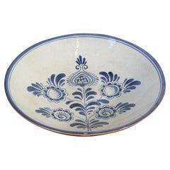 Vintage Decorative Moorish Bowl Blue and White