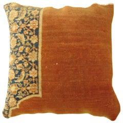 Vintage Decorative Persian Tabriz Oriental Carpet Pillow