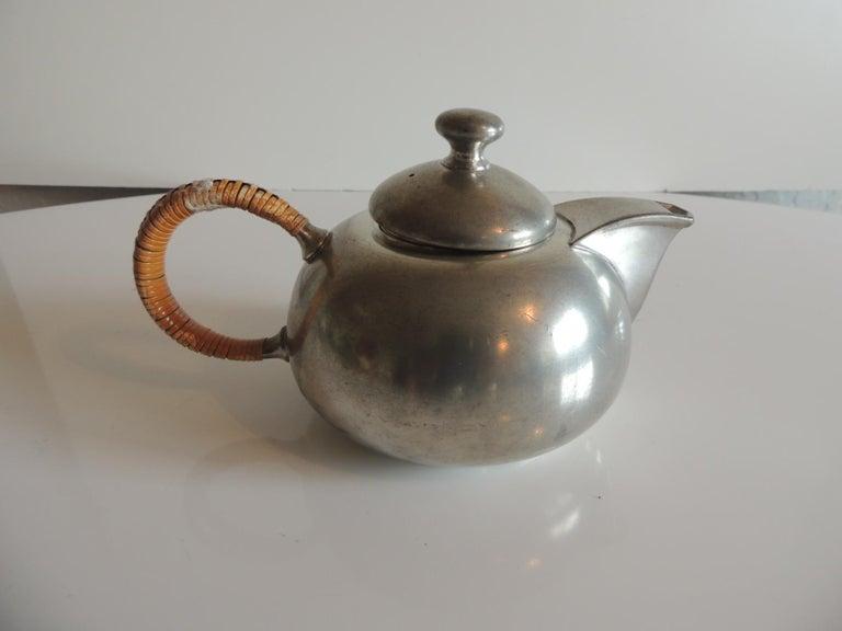 Mid-Century Modern Vintage Decorative Pewter Tea Set by Royal Holland For Sale