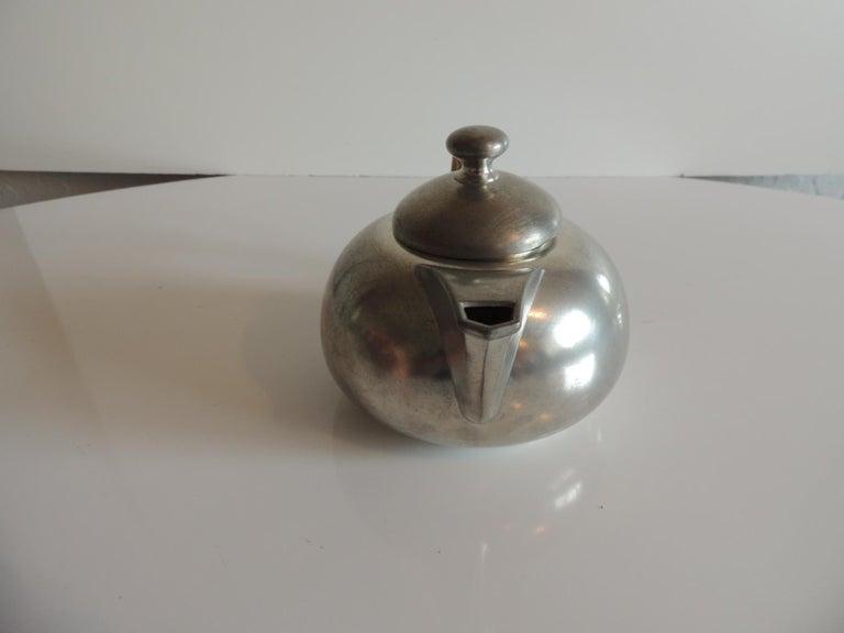 Dutch Vintage Decorative Pewter Tea Set by Royal Holland For Sale