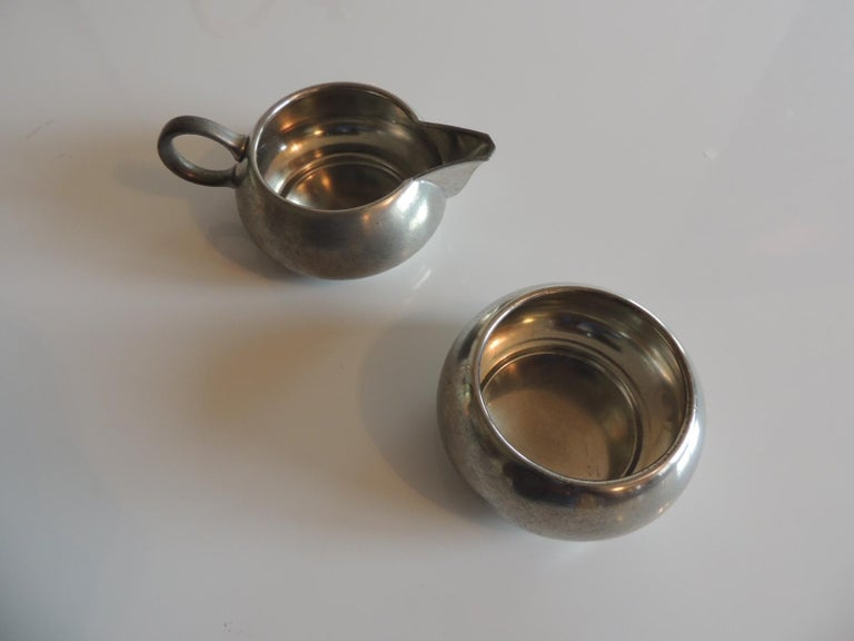 Vintage Decorative Pewter Tea Set by Royal Holland In Good Condition For Sale In Fort Lauderdale, FL