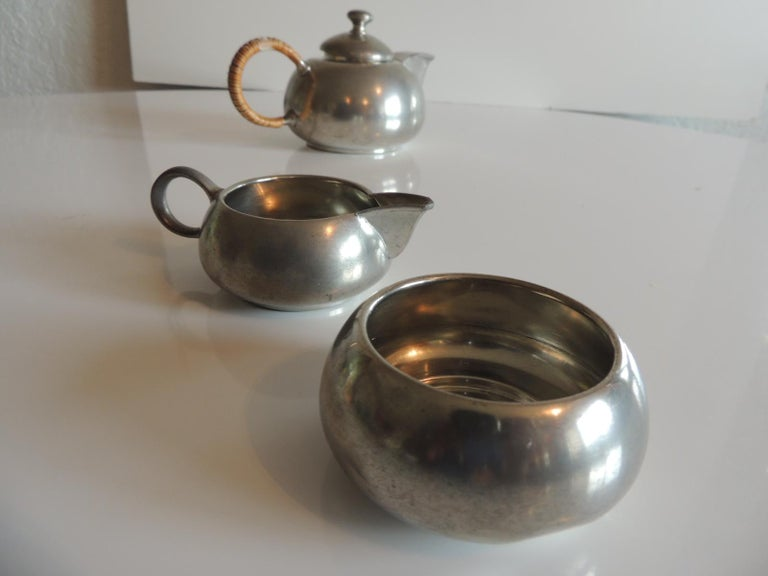 Mid-20th Century Vintage Decorative Pewter Tea Set by Royal Holland For Sale