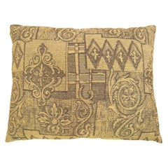 Vintage Decorative Pillow with a Directional Floral Pattern