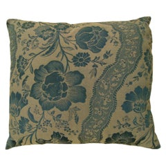 Vintage Decorative Pillow with Directional Floral Pattern