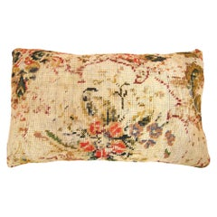 Vintage Decorative Pillow with Floro-Geometric Design on Both Sides
