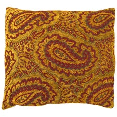 Vintage Decorative Pillow with Large Paisley Design