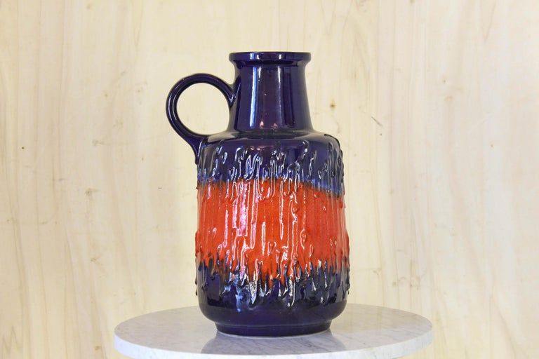 Vintage Decorative Pitcher German from Scheurich, 1960s In Excellent Condition For Sale In Ceglie Messapica, IT