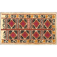 Vintage Decorative Suzani Textile, Repeat Design, Wall Hanging & Floor Covering