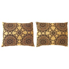 Vintage Decorative Tapestry Pillow with Circles Design
