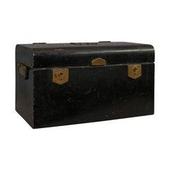 Vintage Deed Box, English, Art Deco, Iron, Document, Deposit, Chest, circa 1930