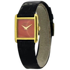 Vintage DeLaneau Manual Winding 18 Karat Gold Ladies Wristwatch, circa 1970s
