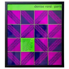 Vintage Denise René Paris Gallery Exhibition Poster