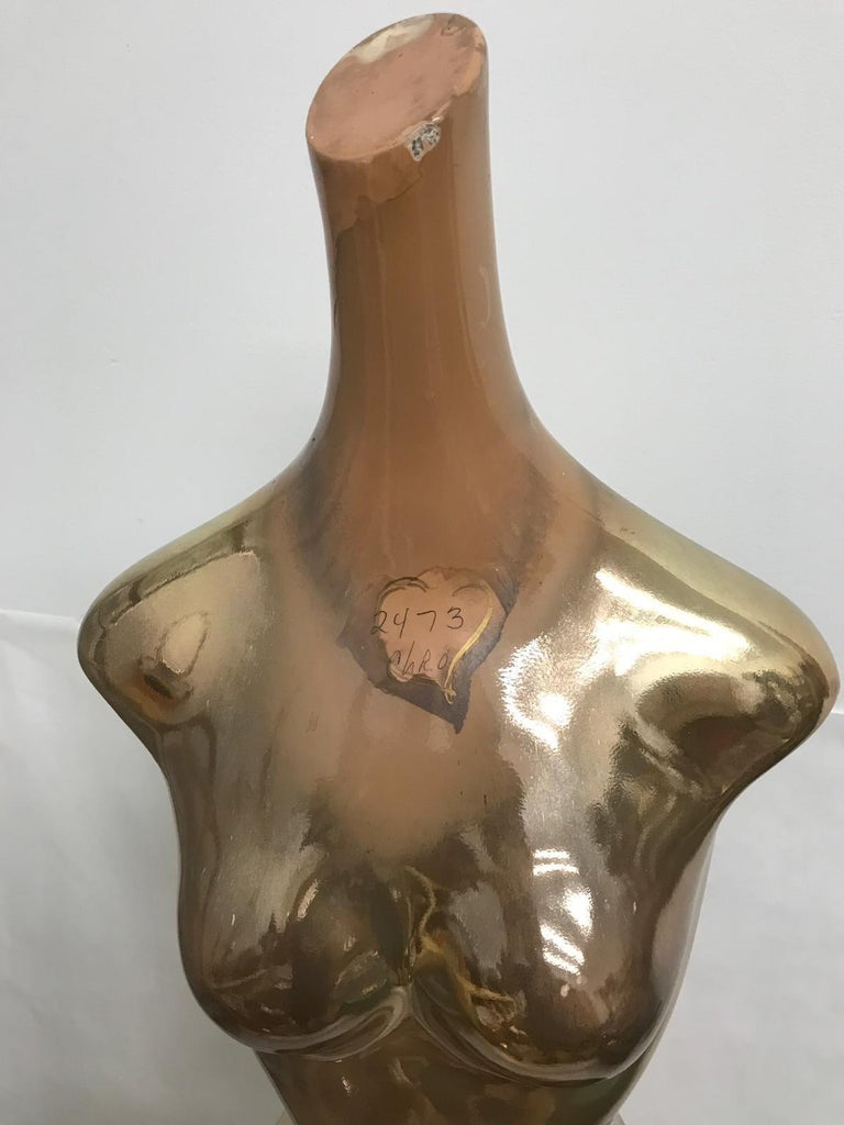 Vintage Department Store Mercury Finish Mannequin In Good Condition For Sale In East Hampton, NY