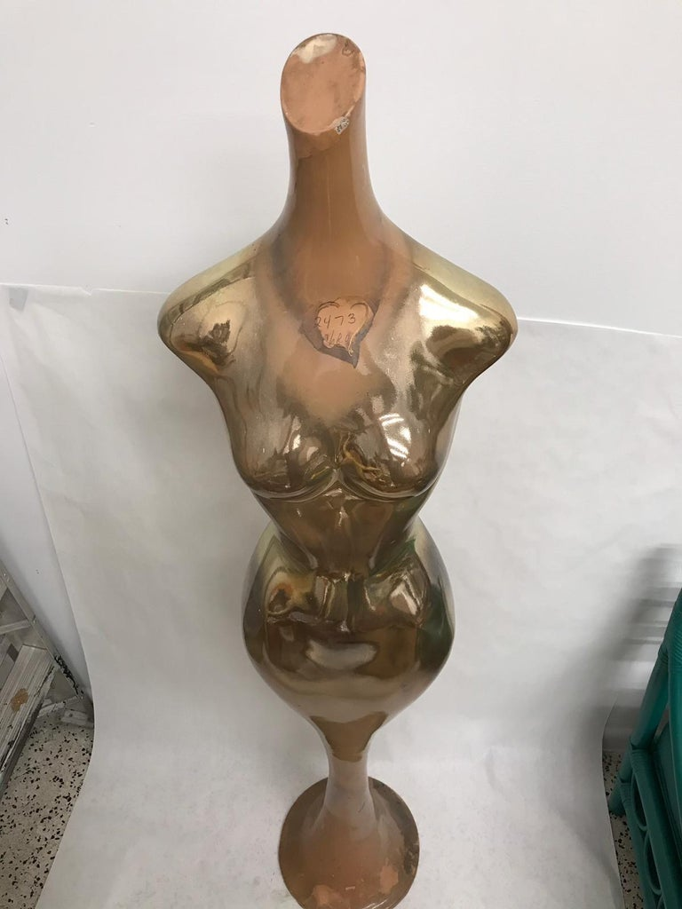 Resin Vintage Department Store Mercury Finish Mannequin For Sale