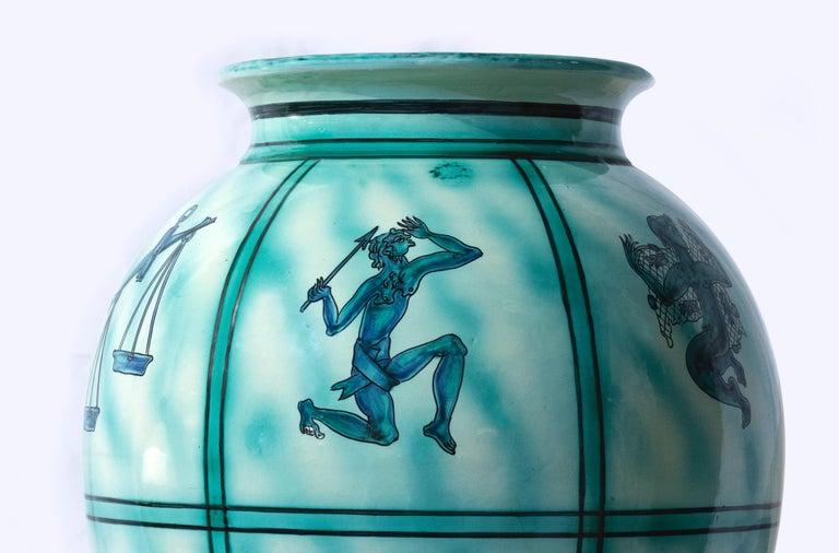 Italian Vintage Deruta Ceramic Vase, Italy, 1930s For Sale