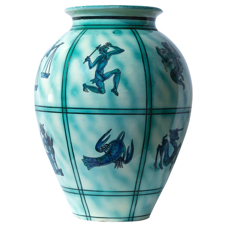 Vintage Deruta Ceramic Vase, Italy, 1930s For Sale