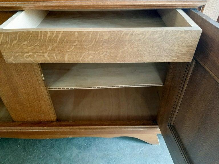 Vintage Design Brutalist Midcentury Oak Sideboard, Credenza by Charles Dudouyt For Sale 5