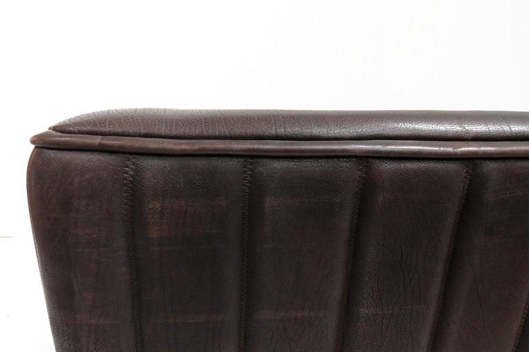 Vintage Design De Sede DS 84 Leather Sofa, Switzerland, 1970s For Sale 4