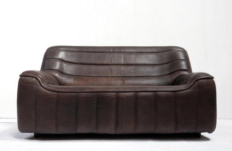 Mid-Century Modern Vintage Design De Sede DS 84 Leather Sofa, Switzerland, 1970s For Sale