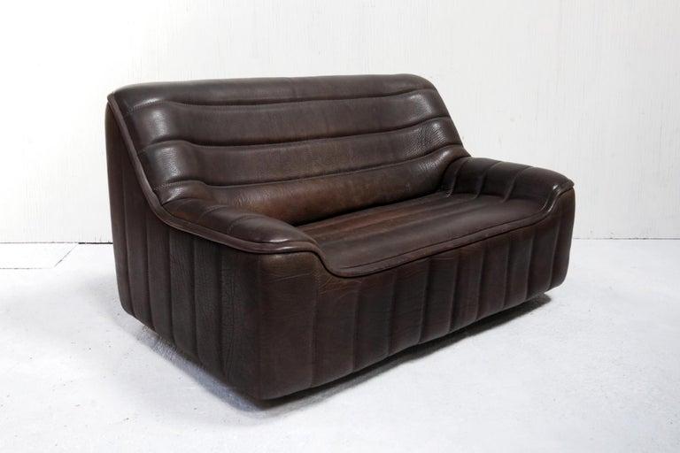 Vintage Design De Sede DS 84 Leather Sofa, Switzerland, 1970s In Good Condition For Sale In Boven Leeuwen, NL