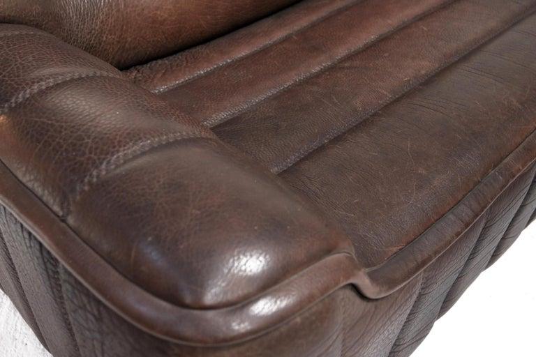 Late 20th Century Vintage Design De Sede DS 84 Leather Sofa, Switzerland, 1970s For Sale
