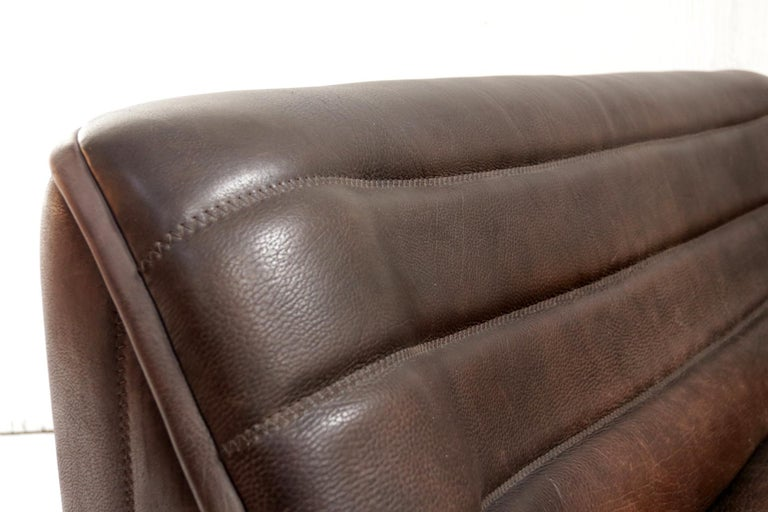 Vintage Design De Sede DS 84 Leather Sofa, Switzerland, 1970s For Sale 1