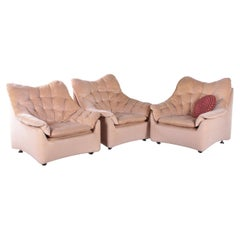 Vintage Design Lounge Chair Velvet from the 70s