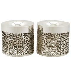 Vintage Design Style 1970s Sterling Silver Candlesticks