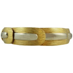 Vintage Designer Bracelet 1974, Lapponia Finland, Yellow and White Gold, Nordic