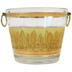 Designer Yellow and 22-Karat Gold Ice Bucket, circa 1960s